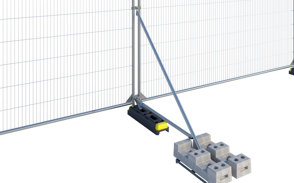 Hoarding Stabiliser with Brace