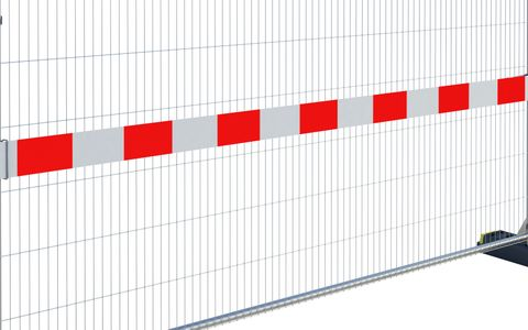 Reflective Fence Strip (PVC) 3.5m (Red-White)