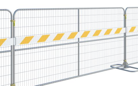 Reflective Fence Panel Strip PVC (12' Panel) Orange-White - Coming Soon