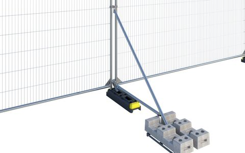 Hoarding Stabiliser with Brace