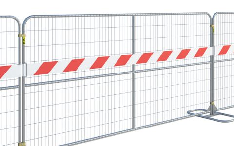 Reflective Fence Panel Strip PVC (12' US Panel) Red-White