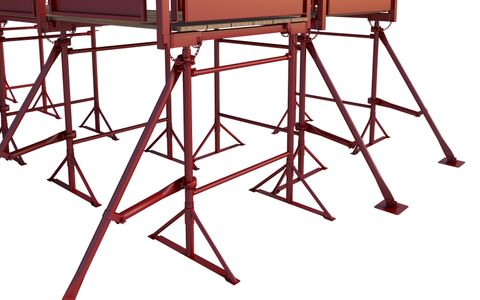 No.3 Builders Trestle (Painted) Round