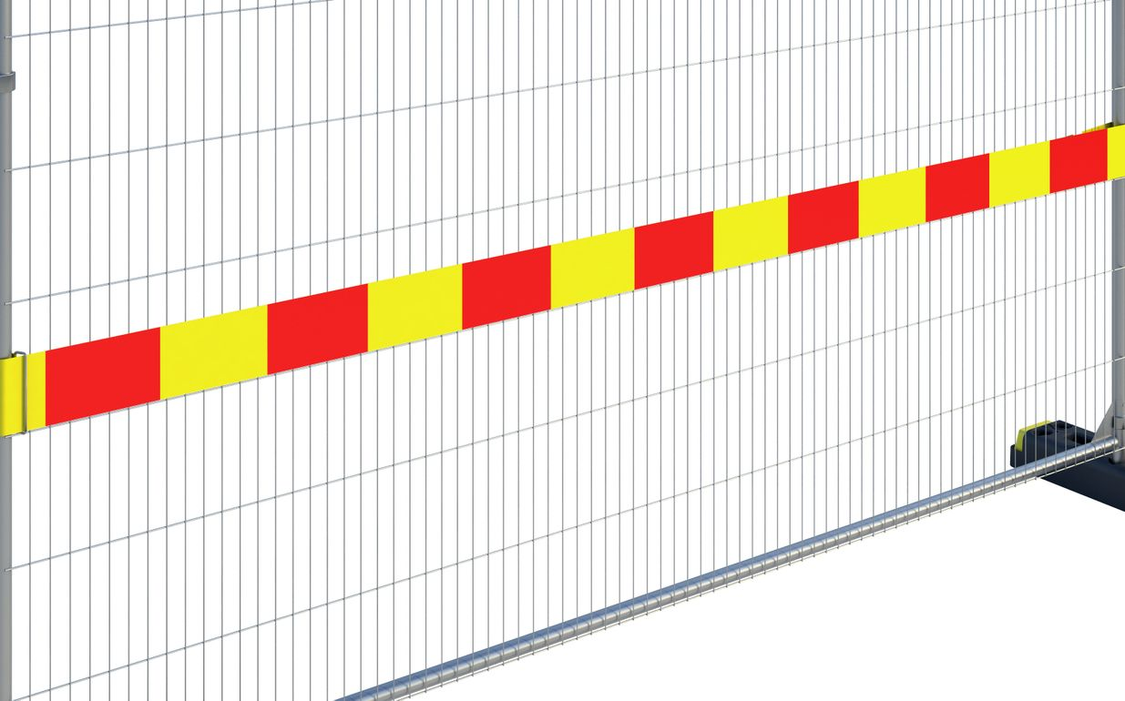 Reflective Fence Strip (PVC) 3.5m (Red-Yellow)