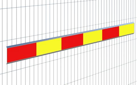 Reflective Board (Metal) Red-Yellow