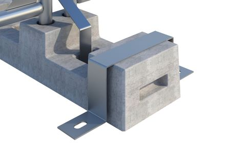 Block Retaining Bracket - Galv