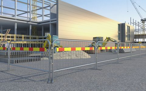 Bar Barrier 2.3 HDG Reflective Board
