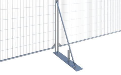 Fence Stabiliser c/w Large Plate - Euro