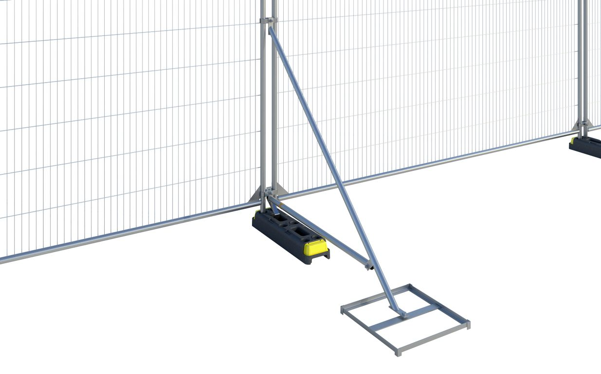 Hoarding Stabiliser with Brace and Block Tray