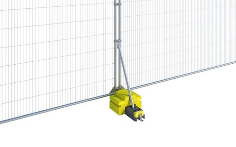 Fence Ballast Block with Fence Stabiliser (HSG151) Small