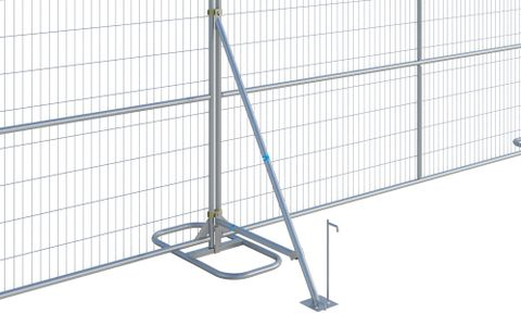 Fence Stabilizer with Brace