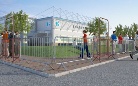 Fixed Leg (Walk Through c/w Gate) Barrier
