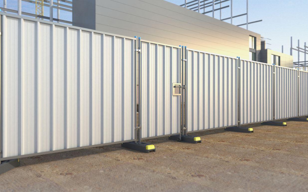 Steel Hoard Pedestrian Gate