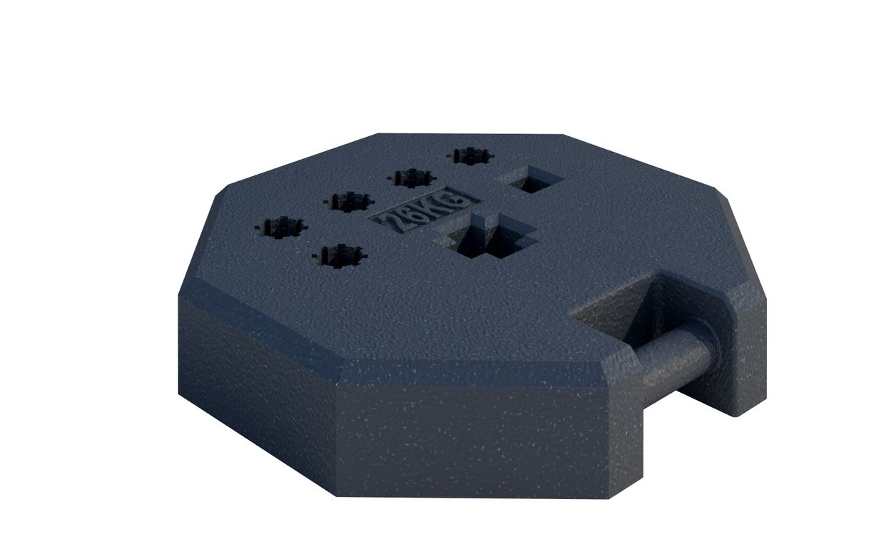 Octagonal Thermo-Plastic Base