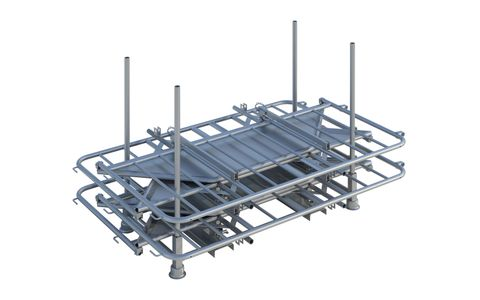 Police Barrier Collapsible Stillage