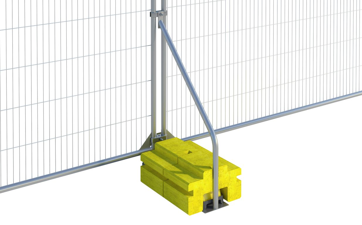 Fence Ballast Block Stabiliser with blocks