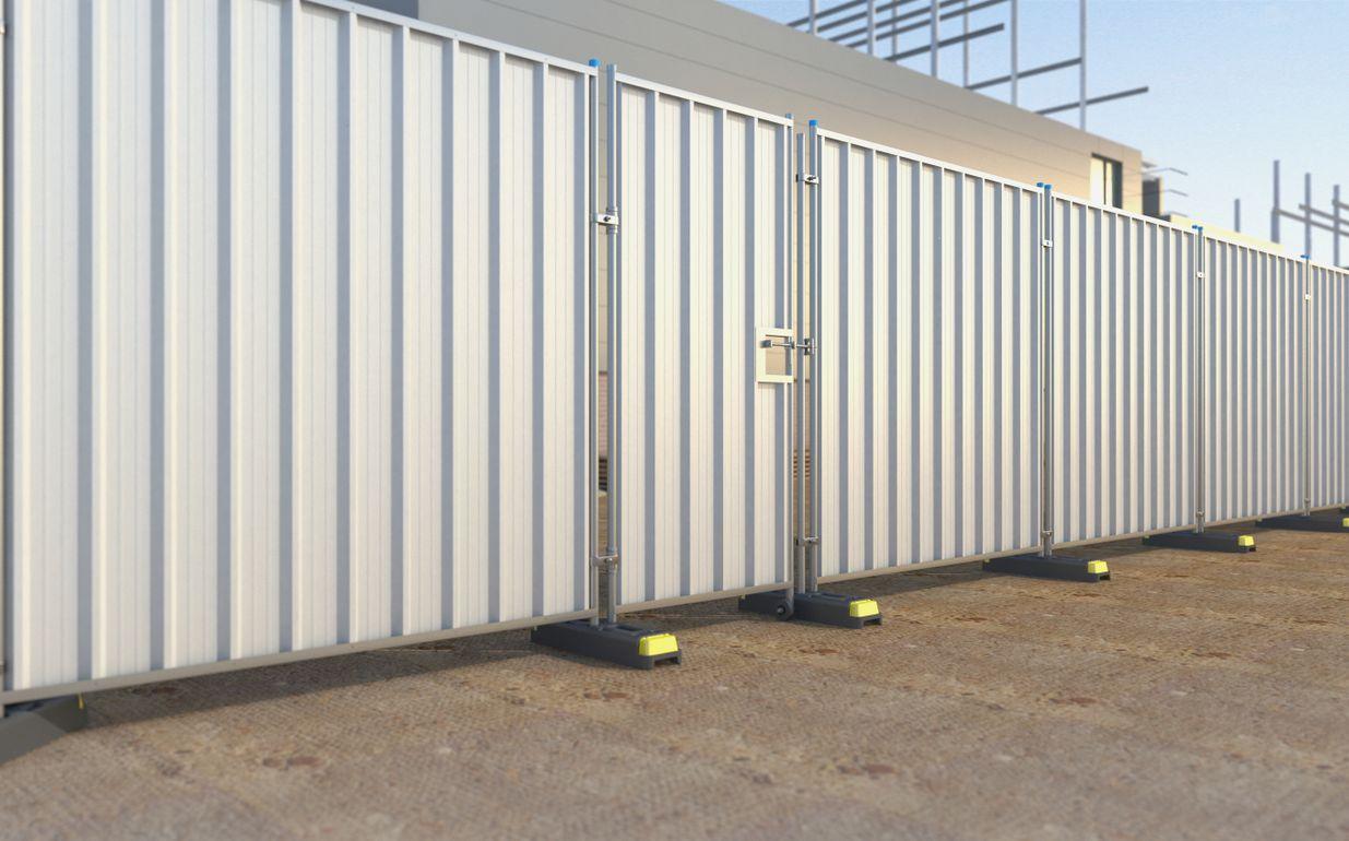 Steel Hoard Pedestrian Gate 2.4m