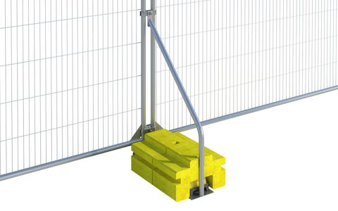 Fence Ballast Block Stabiliser with blocks