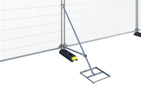 Hoarding Stabiliser and Brace with Block Tray